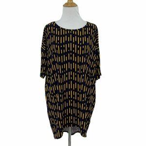 Lularoe Irma Tunic Top High Low Short Sleeve Shirt